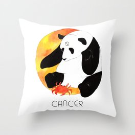 Panda Zodiac Cancer Throw Pillow