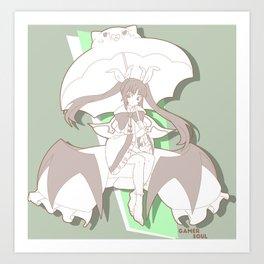 Gamer Soul Fighter Line - Rachel Art Print