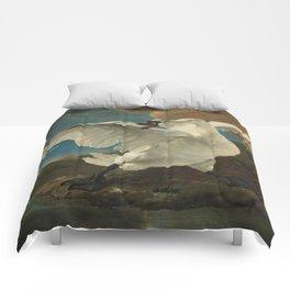 The threatened swan - Jan Asselijn (1650) Comforters