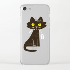 Fitz - Hungry hungry cat (and unfortunate mouse) Clear iPhone Case