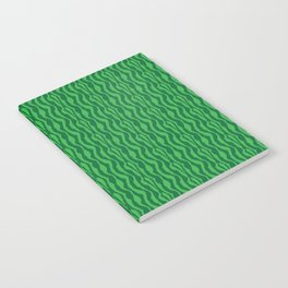 Pretty Green Zebra Pattern Notebook