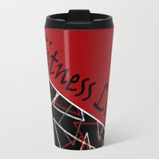 The fitness club . Red black creative pattern . Travel Mug