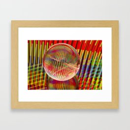 Criss Cross lights in the crystal ball Framed Art Print