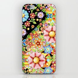Boho Chic Flower Garden iPhone Skin
