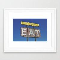 eat Framed Art Prints featuring eat by bellehibou