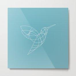 Geo Hummingbird Metal Print