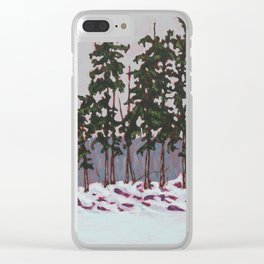 Frozen Island, Algonquin Park Clear iPhone Case