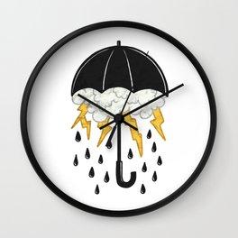 Umbrealla Storm Wall Clock