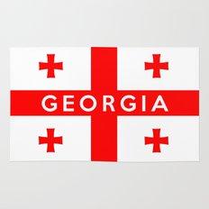 Georgia country flag name text Rug