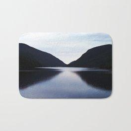 Mountain Lake Reflection Bath Mat