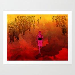 Bobbi Gibb runs the Boston Marathon Art Print