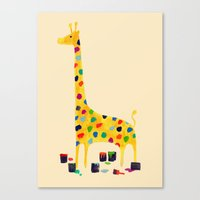 number Canvas Prints featuring Paint by number giraffe by Picomodi