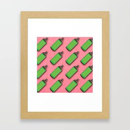 Spraycan pattern Framed Art Print