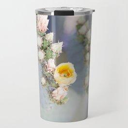 Yellow Desert Blooms Travel Mug