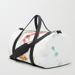 "Watercolor Painting of Picture ""Koi Pond"" Duffle Bag"