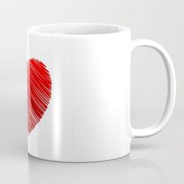 Scribbled red valentine heart- be my valentine Coffee Mug
