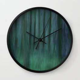 Painted Trees 2 Aqua Wall Clock