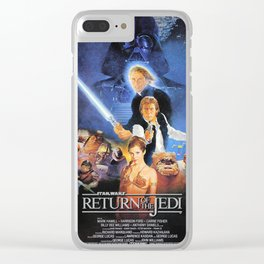 The Return Of The Movie Poster George Lucas Han Solo Luke Skywalker Clear iPhone Case