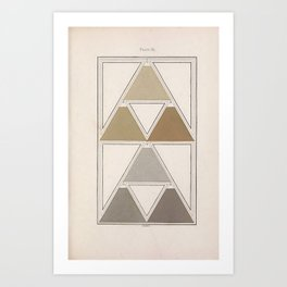 Antique Color Theory Art Print