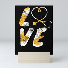 Nurse Sunflower Love Gift Nurse Gifts RN CNA LPN  Mini Art Print