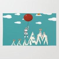trooper Area & Throw Rugs featuring cloud trooper by bri.buckley