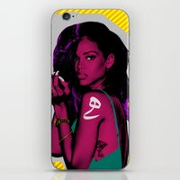 rihanna iPhone & iPod Skins featuring RIHANNA by FA 23