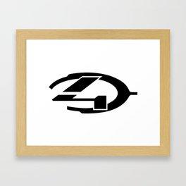 Halo 4 logo Framed Art Print