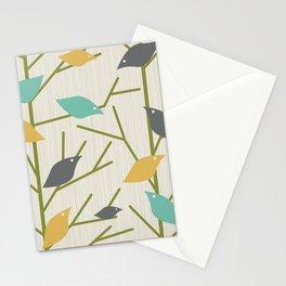 Mid Century Modern Birdsong Stationery Cards