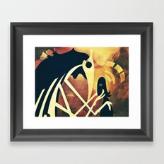 Shadow Gliding  Framed Art Print