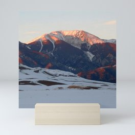 Watercolor Landscape, Great Sand Dunes 01, Colorado Mini Art Print