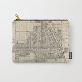 Vintage Map of Santa Ana CA (1907) Carry-All Pouch