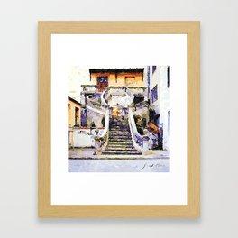 Catanzaro: flight of steps Framed Art Print