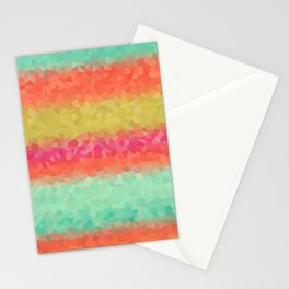 Horizontal Color Lists Stationery Cards
