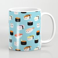 sushi Mugs featuring Sushi! by Sara Showalter
