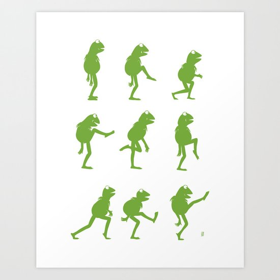 Ministry of Silly Muppet Walks Art Print