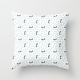 Cool Holly Pattern Throw Pillow