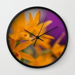 Yellow Purple Wall Clock