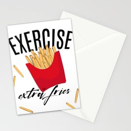 Exercise or extra fries Stationery Cards