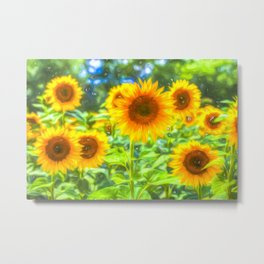 Dreams Of Sunflowers Metal Print