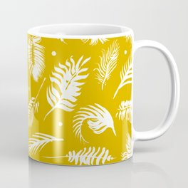 Golden beach palm set pattern Coffee Mug