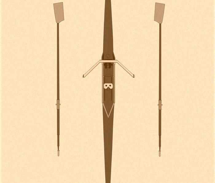 rowing single scull Metal Travel Mug