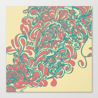 coral Canvas Prints featuring Coral  by LindsayMichelle