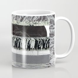 Collage - Black on White Coffee Mug