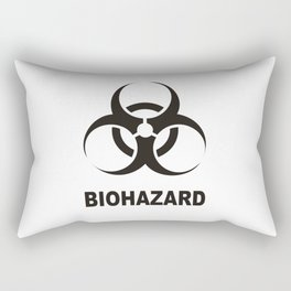 biohazard sign Rectangular Pillow