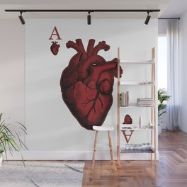 Ace of Hearts Wall Mural