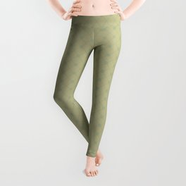 Sweet Pea Green on Earthy Green Parable to 2020 Color of the Year Back to Nature Polka Dot Grid Leggings