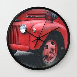Vintage Fire Truck Wall Clock