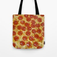 pizza Tote Bags featuring Pizza by Katieb1013