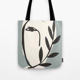 Abstract Minimal Art / Face 5a Tote Bag