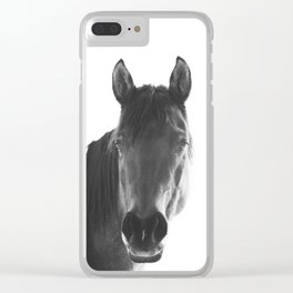 Horse with White Background Clear iPhone Case